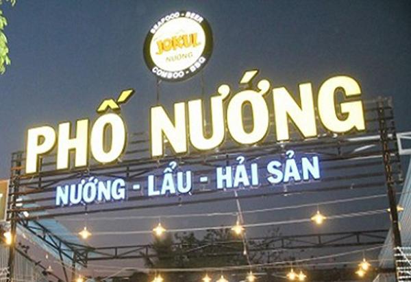 biển quảng cáo cho nhà hàng