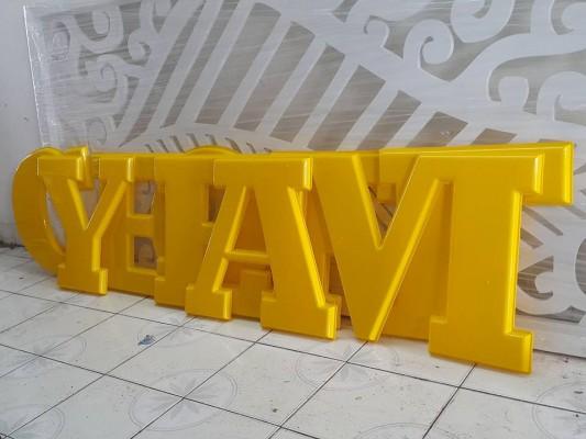 Chữ nổi mica được dùng để làm biển quảng cáo