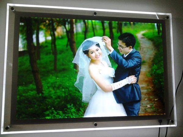 Ảnh cưới bằng tranh điện mica