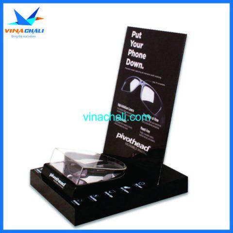 Kệ mica trưng bày kính mắt 4 4