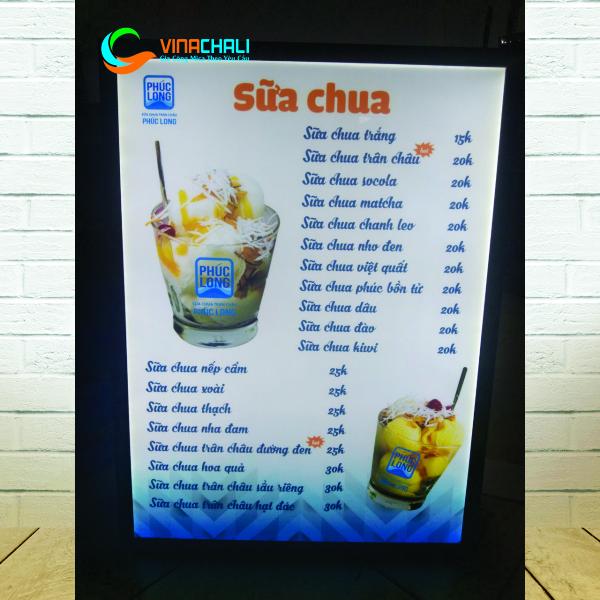 Tranh điện menu nhà hàng