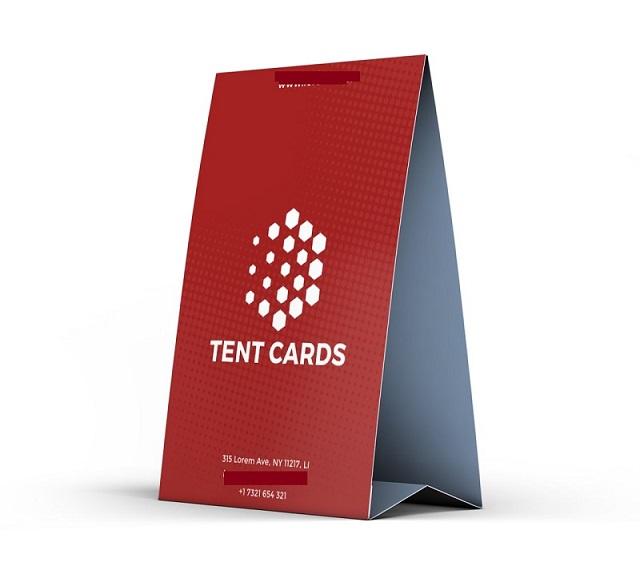 Tent Card được làm từ nhiều loại chất liệu khác nhau