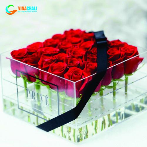Hộp đựng hoa hồng cao cấp